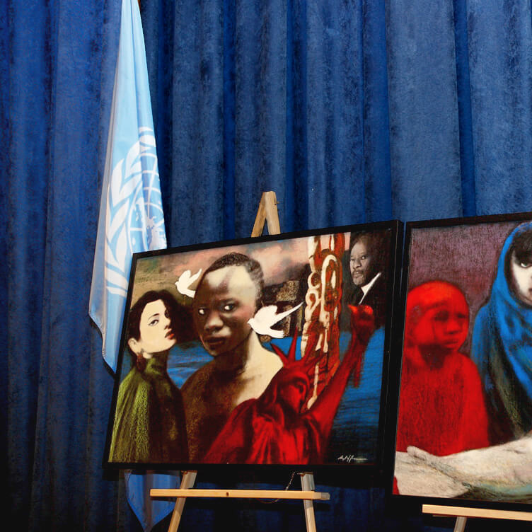 In exhibition at the United Nations